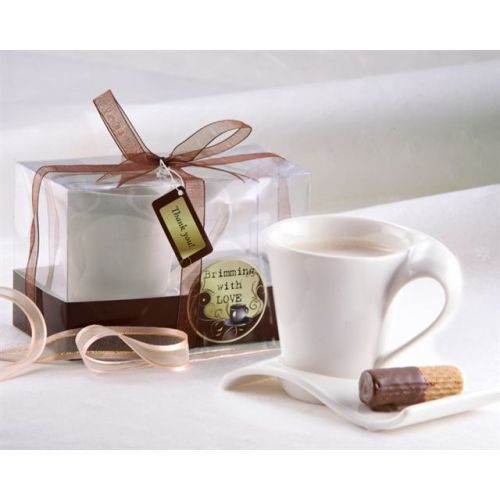 espresso cup and biscotti image - Idea for wedding favour