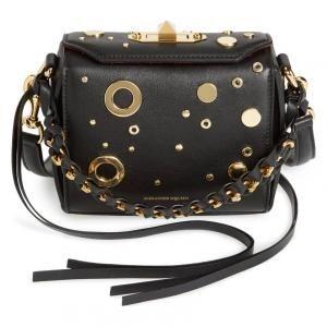 Alexander McQueen Leather Black Grommet & Stud Box Bag - 40% Off