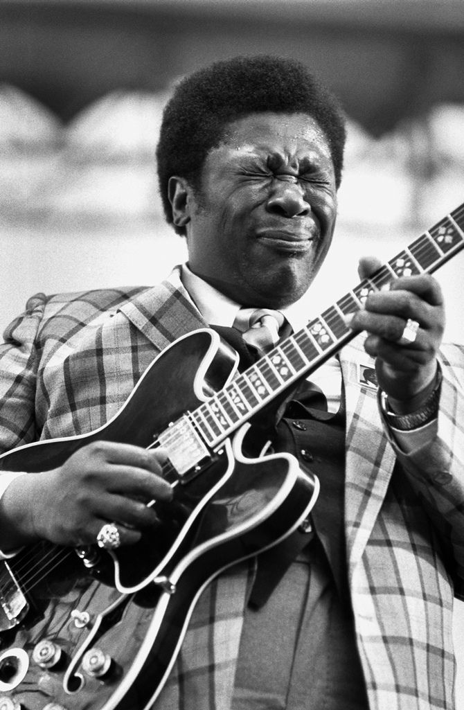 """The fantastic B.B. King with """"Lucille"""" ."""