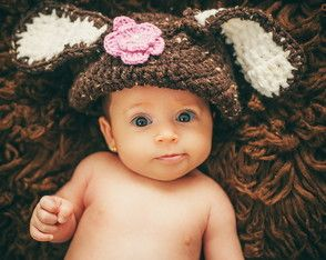 Touca coelho para Newborn