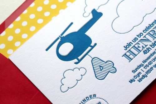 Oh So Beautiful Paper: Helicopter Birthday Party Invitations