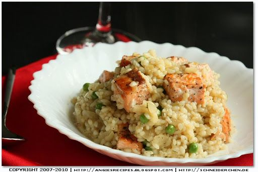 Dill Risotto With Salmon For The Love Of Food