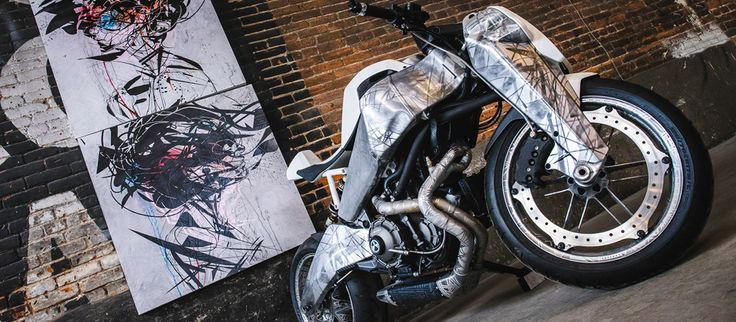 Four Motorcycle Works of Art Based on the Harley-Davidson Buell 1125 #Motorcycle #Harley