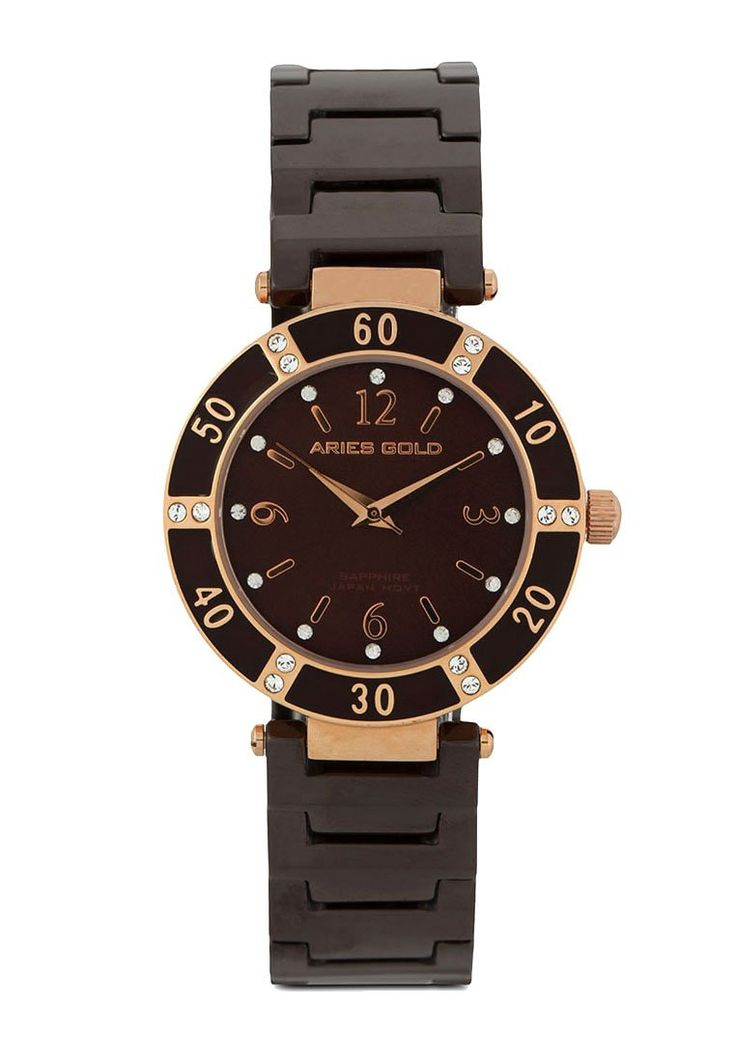 Complete your daily look with Ps 801 M-Coffee Heritage Series Watch by Aries Gold. Watch that made of ceramic and sapphire glass, with brown, color and gold case color, a cool watch to wear everyday, this watch is water resistant, strap length 24 cm. http://www.zocko.com/z/JHy2U