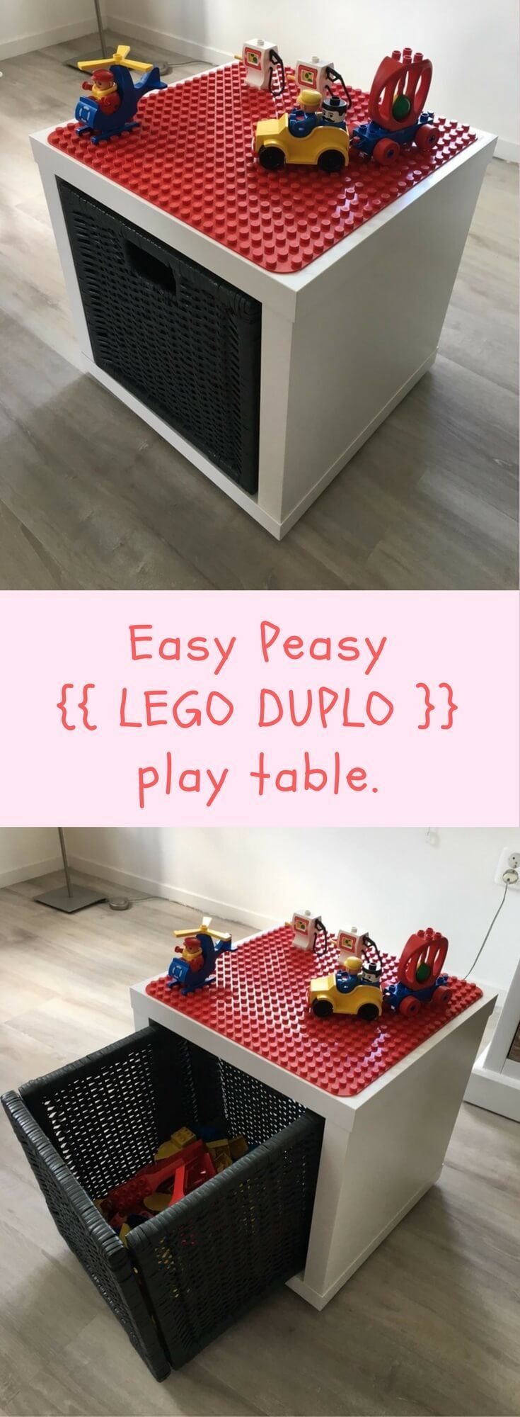 LEGO Duplo play and store box http://www.ikeahackers.net/2017/09/lego-duplo-play-store-box.html