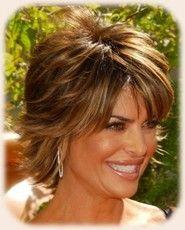 Lisa Rinna Hairstyle Back View | lisa rinna messy short shag