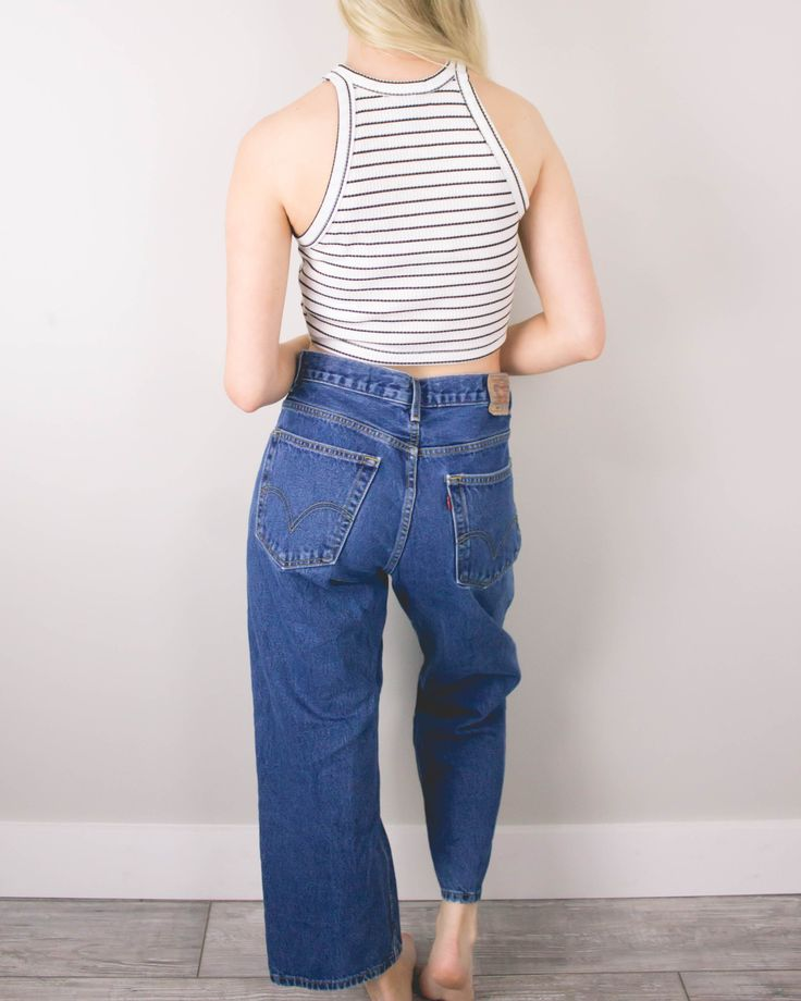 Vintage (MEDIUM) Levis 569 High Waisted Denim Jeans