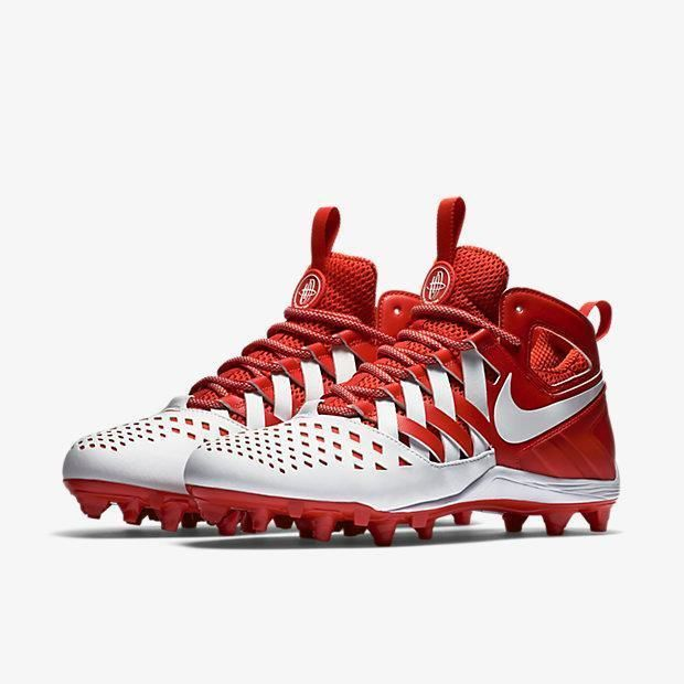 Nike Huarache V 5 LAX  Td Lacrosse Football Cleats Various Sizes Red  White