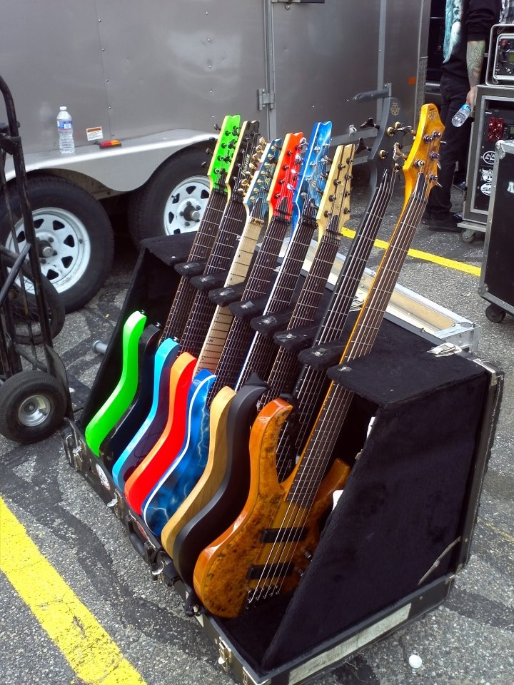 After The Burial's Ibanez workhorses!