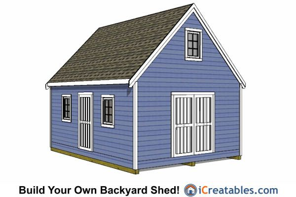 16x20 shed plans examples from 16x20 for Garden shed jokes
