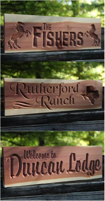 Rustic 100% aromatic cedar engraved with our CNC router. | Made on Hatch.co