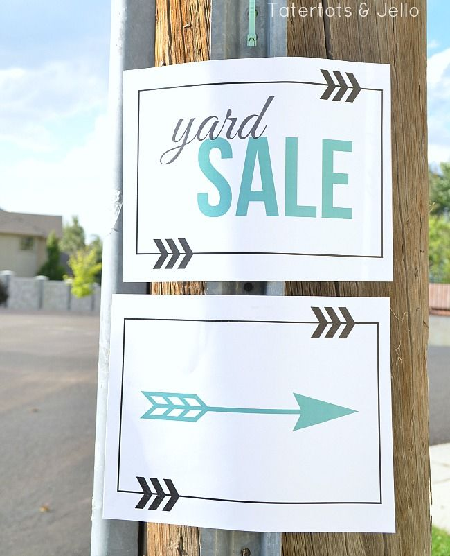 Free Yard Sale Sign Printables. 12 free garage sale printables to make your sale even better! Print them off to direct people to your sale.