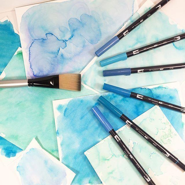 Watercolor With Tombow Dual Brush Pens Watercolor Brush Pen