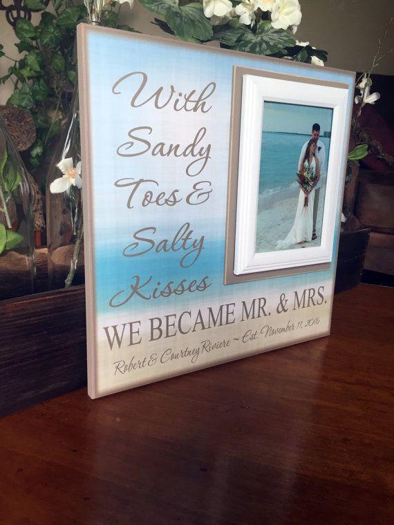 Beach Wedding Destination Gift Shower Present Sandy Toes And