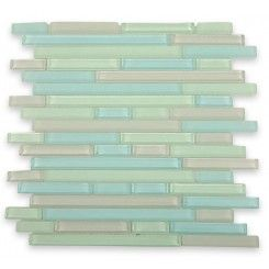 This is more like the seaglass backsplash we wanted
