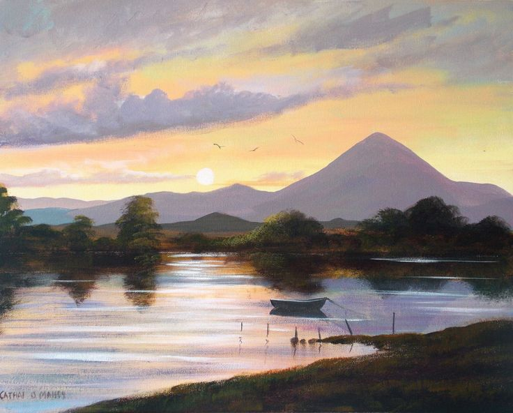 croagh-patrick-co-mayo.jpg - Painting,  2x16x20 in ©2013 by Cathal O Malley -              painting  ireland  croagh patrick  co mayo