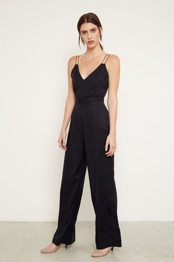 f6ec3cf6a07 Sleeveless Black Jumpsuit