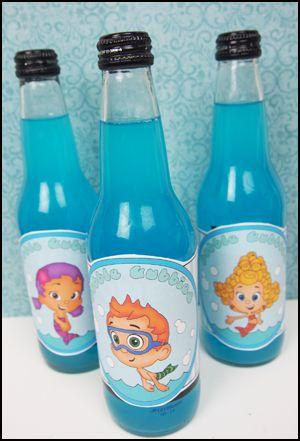 """Printable Bottle Labels """"Bubble Guppies"""""""