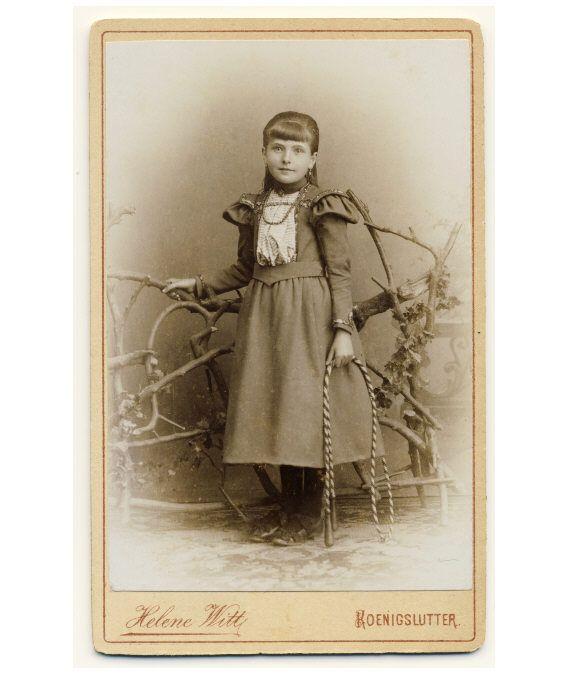 Vintage Wedding Dresses Richmond Va: Beautiful Little Girl Fancy Dress CDV Photo 1890s Child