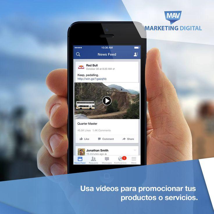 Los vídeos son el formato más atractivo en las redes sociales. Solo tienes que entrar 1 segundo en Facebook para ver que la amplia mayoría de contenidos son vídeos. Considéralos como parte de tus estrategias digitales 😉  #Estrategiasdigitales #MAVMarketingDigital #RedesSociales