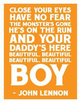 John Lennon  Beautiful Boy Quote 11x14 Art Print by sushimunki, $10.00