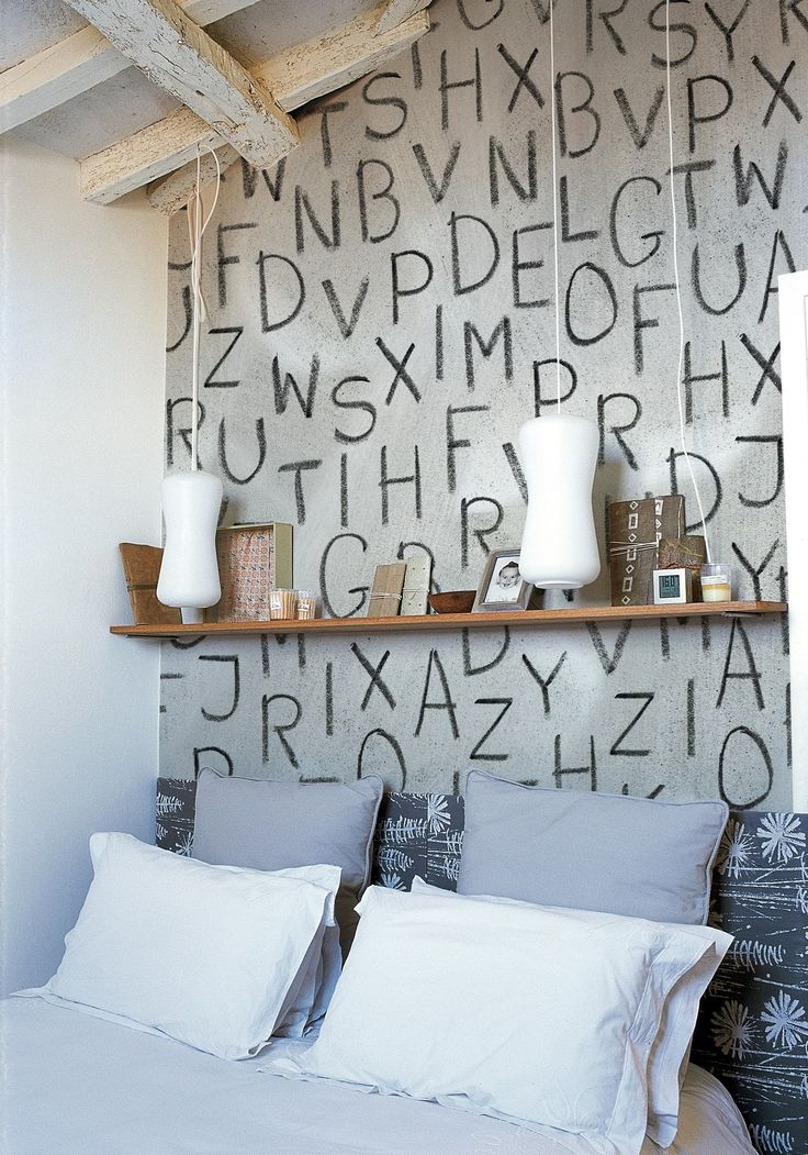 Writing #wallpaper WHISPERS by Wall&decò | #design Christian Benini @Wall&decò