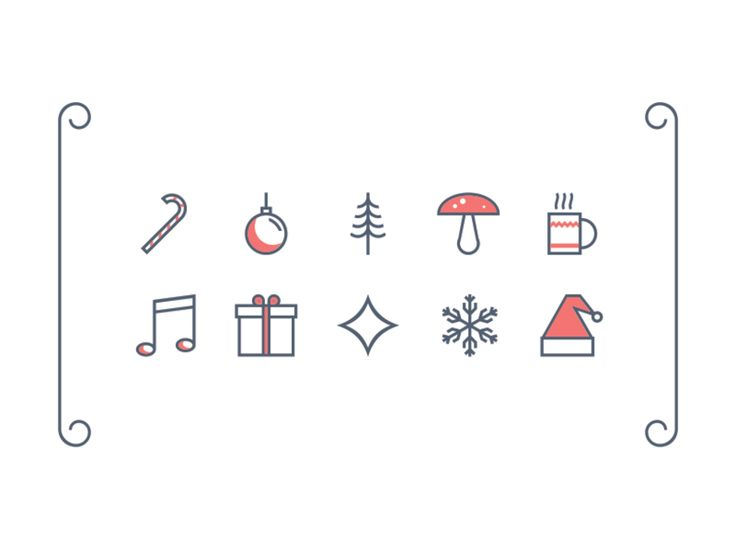 Christmas is here! Celebrate the holiday cheer with 10 seasonal icons. Download and have fun!