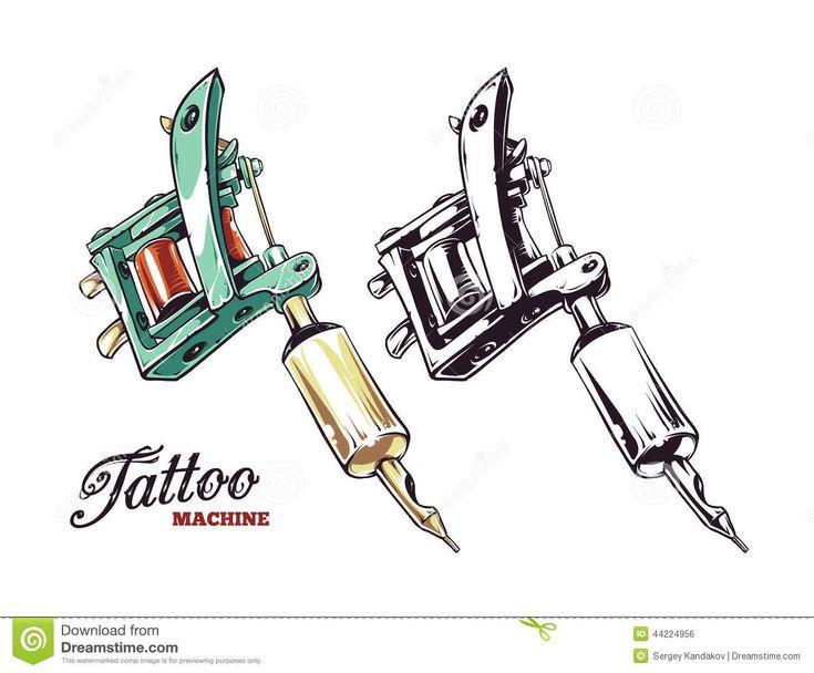 Tattoo Machine Drawing Vector <b>tattoo machine vector</b> stock <b>vector</b> - image: 44224956