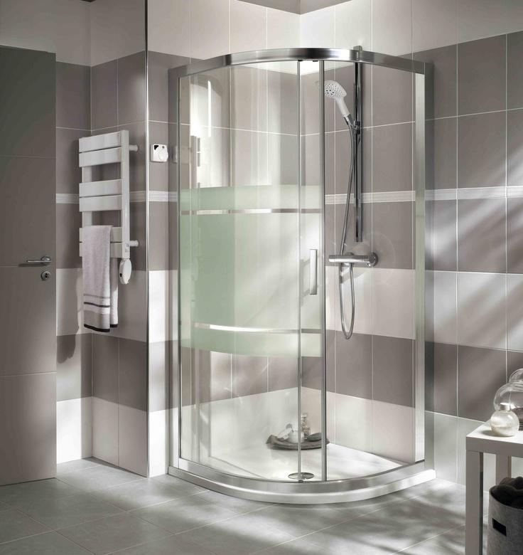 Douche acc s d 39 angle arrondi mod le vogue - Lapeyre salle de bains douche italienne ...
