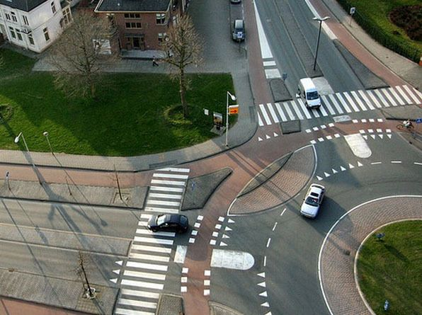 Roundabout with Cycle Track, The Netherlands.