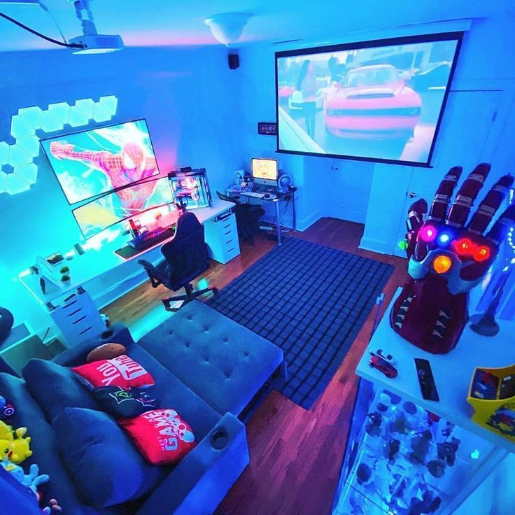 Pc Gaming Setup Ideas Pc Gaming Setup Di 2020 Desain Ruang Permainan Ide Apartemen Ide Kamar Tidur