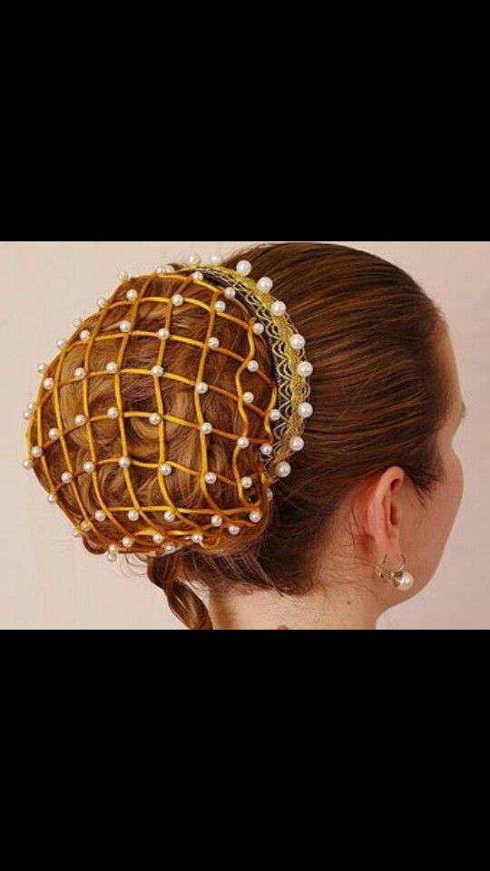 Mediaeval wedding hair-do