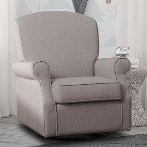 Delta Children Parker Nursery Glider Swivel Rocker Chair - Heather Grey
