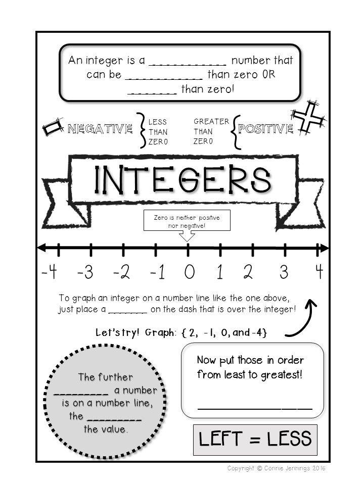integer subtraction addition number line grade 8 worksheet pdf