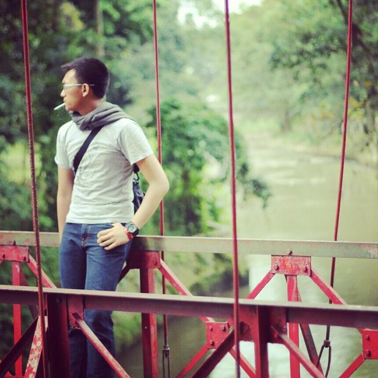 Red Bridge at Botanical Garden Bogor, Indonesia