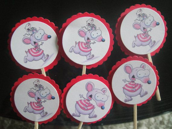 24x Toopy and Binoo cupcake toppers for birthday by filourelia