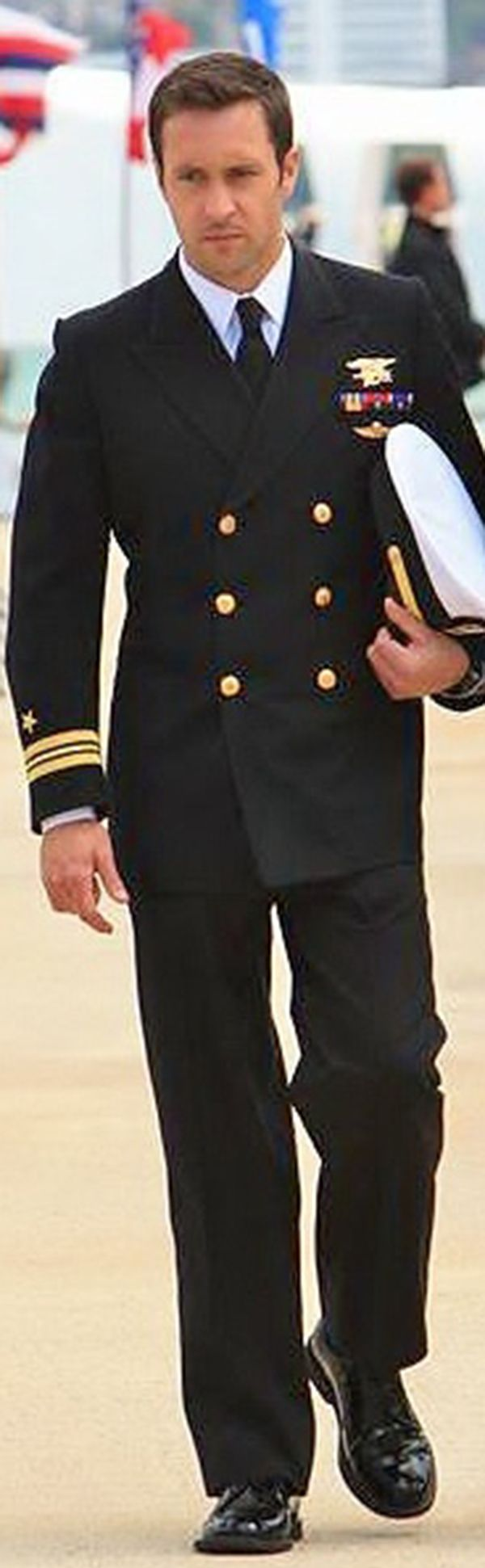Alex O'Loughlin - I'm a sucker for a man in uniform!