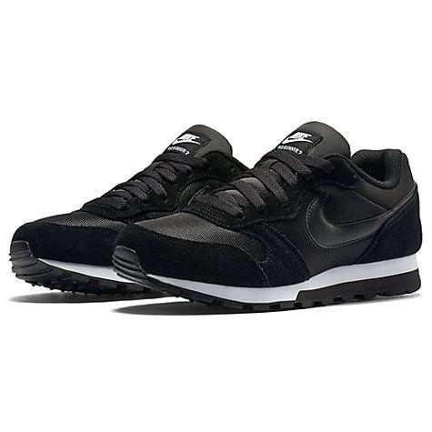 Buy Nike MD Runner 2 Women's Trainers, Black/White Online at johnlewis.com