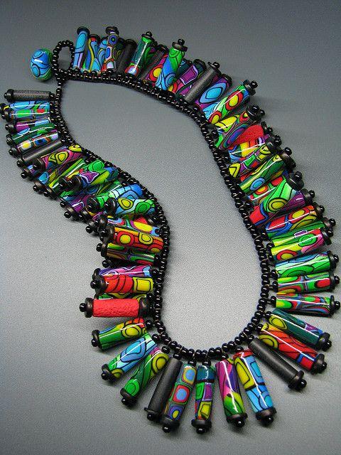 Hundertwasser-Necklace by b.mariatheresia, via Flickr