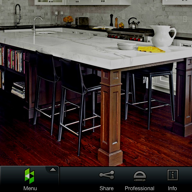 Kitchen Island Must Have Seating For 4 Facing Each