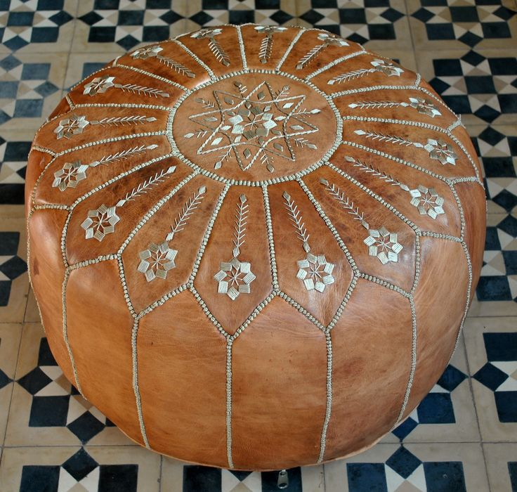 Vintage Style Moroccan pouffe with gorgeous embroidery! (yes ...... my cats ADORE it .... :-( .......)
