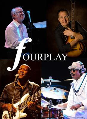 Fourplay is a contemporary jazz quartet. The original members of the group were Bob James (keyboards), Lee Ritenour (guitars), Nathan East (bass), and Harvey Mason (drums). In 1997, Lee Ritenour left the group & Fourplay chose Larry Carlton as his replacement. In 2010, Larry Carlton left Fourplay & was replaced by Chuck Loeb. Fourplay grafs elements of R and pop to their unwavering jazz foundations.