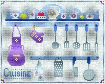 Kitchen cross stitch.