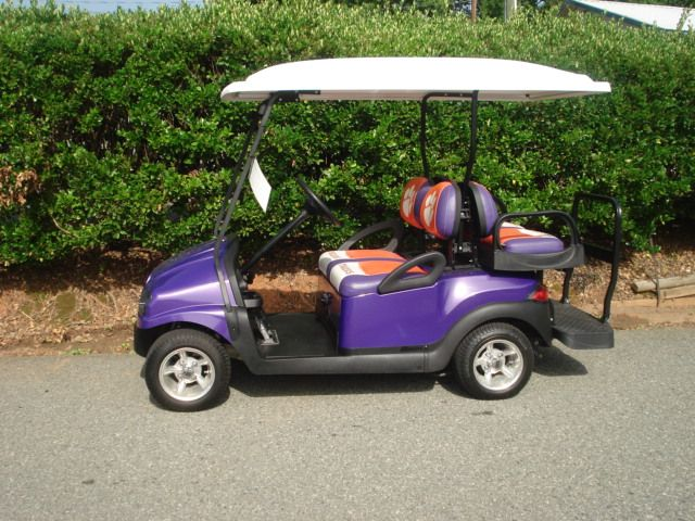 The perfect shade of purple for this adorable custom golf cart from Carolina Golf Cars. Making your golf cart design dreams come true.