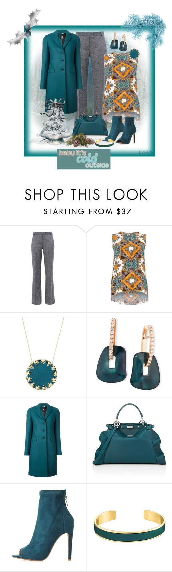 """Untitled #587"" by rosiepeter ❤ liked on Polyvore featuring Barbara Bui, Dorothy Perkins, House of Harlow 1960, Mattioli, Paul Smith, Fendi, Cape Robbin, VANINA and November"
