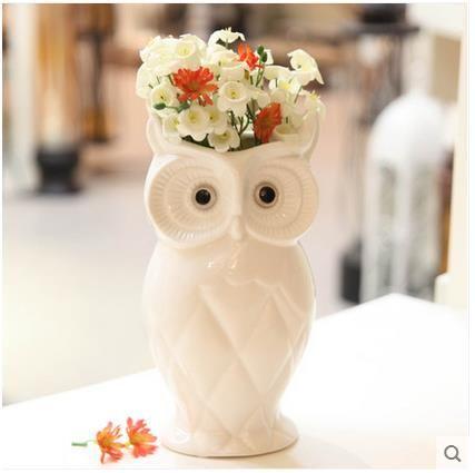 Белый-font-b-ceramica-b-font-coruja-совы-домашнего-декора-Сова-ваза-для-цветов-горшок-ремесленных.jpg (427×425)