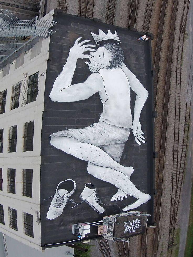 Ella & Pitr, street-art, toits