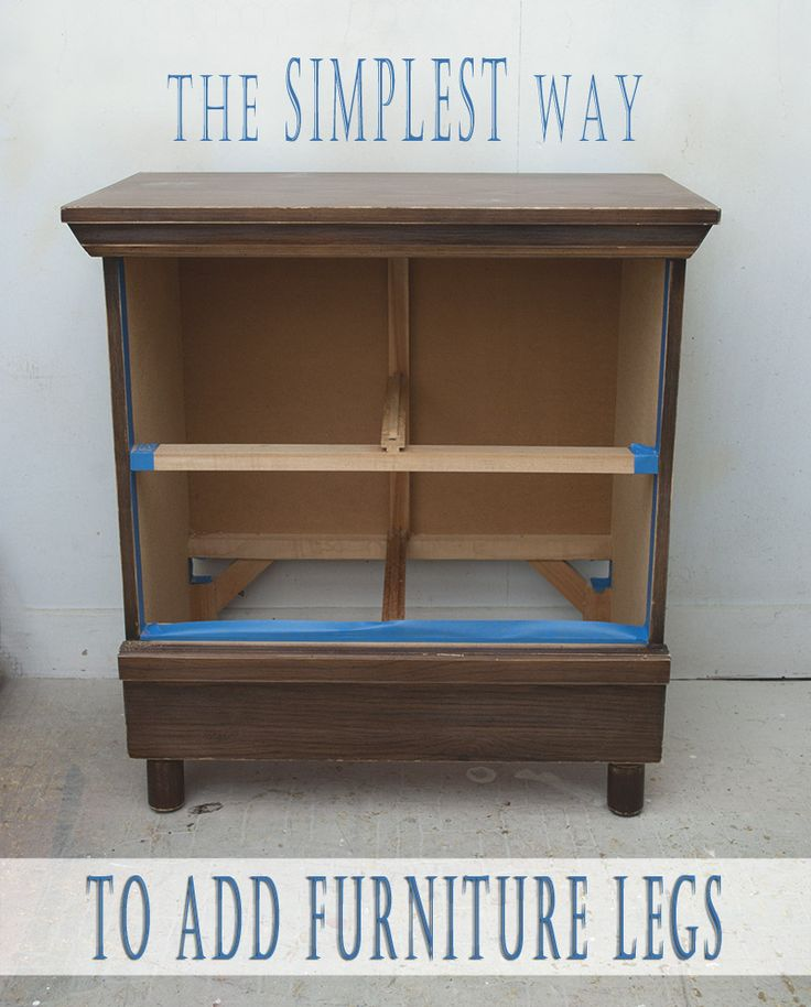 The simplest way to add furniture legs to small pieces of for Furniture u save a lot