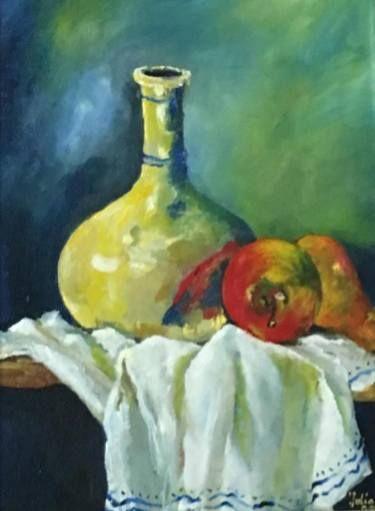 """Saatchi Art Artist Galeriile Carol; Painting, """"Vivid Towel - Iulia Deme"""" #art"""