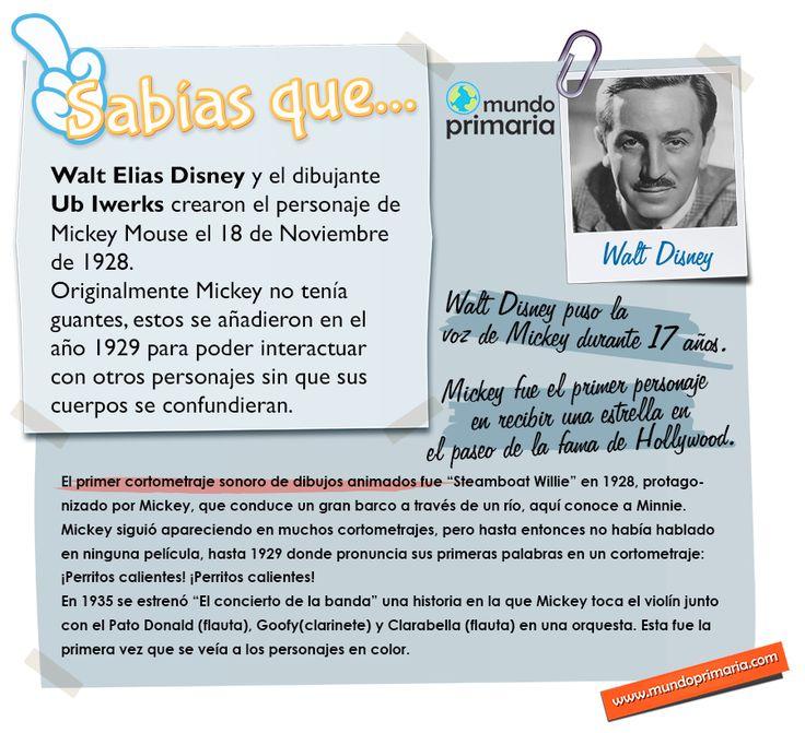 Walt Disney fue un hombre importantísimo para todos los niños del mundo y su historia está llena de detalles curiosos.